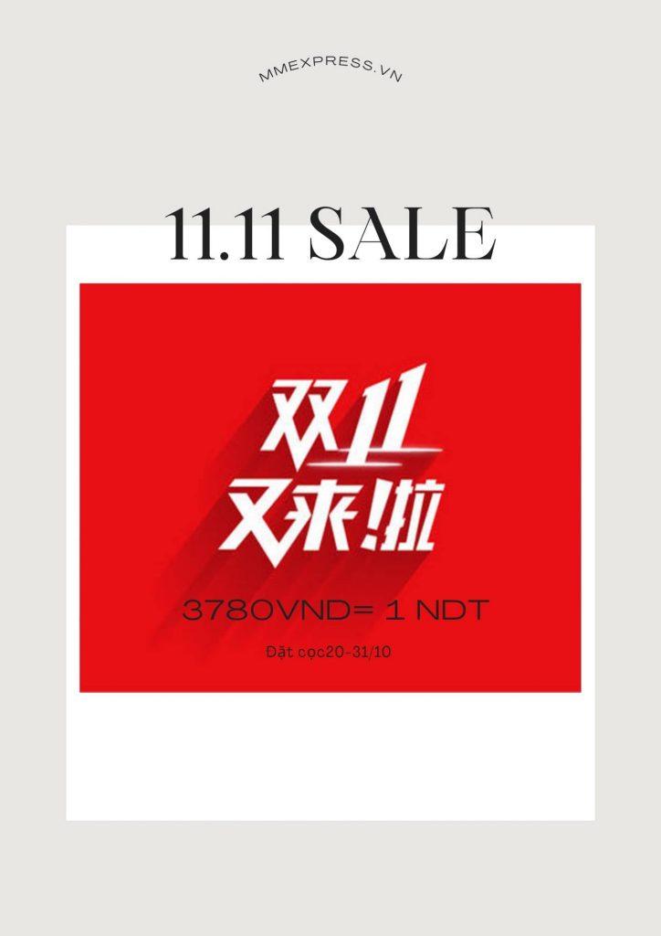 Lễ hội mua sắm Taobao Tmall 11.11. Giá của hàng chục ngàn chủng loại hàng hóa thấp như cho!  (Thời gian 1-11 tháng 11)